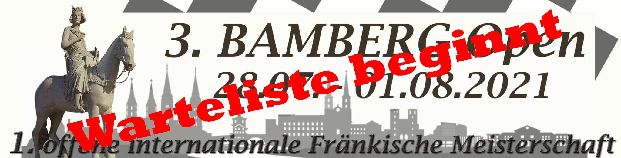 Bamberg Open 2021 - Warteliste