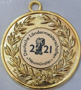 Die Goldmedaille für Tobias als Deutscher Ländermeister