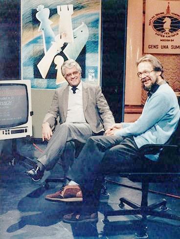 Lothar Schmid und Dr. Helmut Pfleger bei der WM 1984